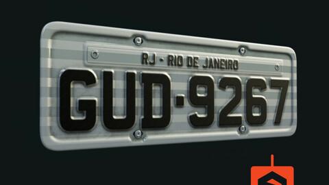 Brazil License Plate - 100% Editable