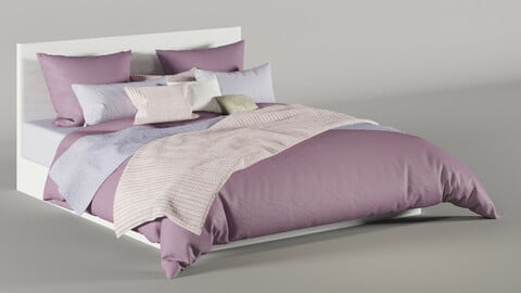 Meridiani Pink Bardo Due Bed