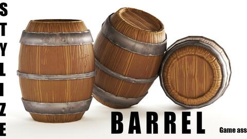 Stylized  Barrel-Game asset