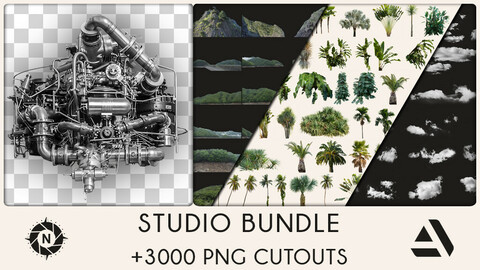 STUDIO BUNDLE: All of my PNG Cutouts + Free Updates (Save 500$)