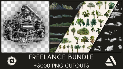 Freelance Bundle: All of my PNG Cutouts + Free Updates (Save 300$)