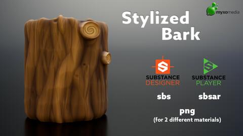 Stylized Bark - Procedural Material Substance Designer