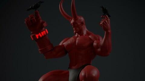 HellBoy figurine stl. files