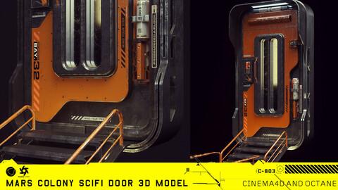 Mars Colony Scifi Door 3D Model