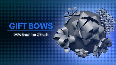 [IMM Brush] Gift Bows IMM Brush for ZBrush 2021