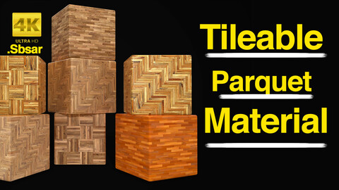 Tileable Wooden Parquet Material / Sbsar / 4k High Quality