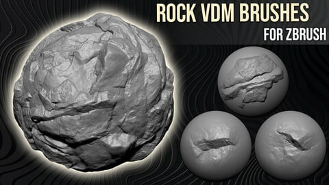 Rock VDM Brushes For Zbrush