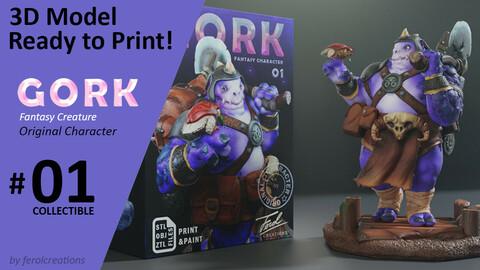 Gork Fantasy Creature 01- Ready for 3D Print