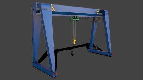 PBR Single Girder Gantry Crane V2 - Blue