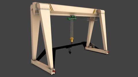 PBR Single Girder Gantry Crane V2 - White