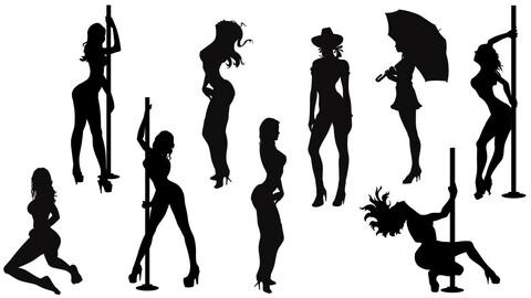 Vector sexy women poses