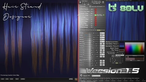 Hair Strand Designer  V1.59 - FULL Perpetual License (+DEMO)