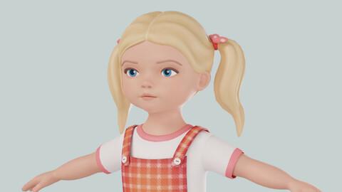 Cartoon girl blonde