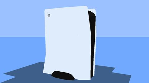 Lowpoly PS5 Model