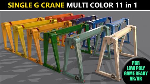 PBR Single Girder Gantry Crane V2 - Multi color Pack