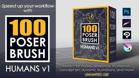 100 POSER BRUSH - HUMANS v1