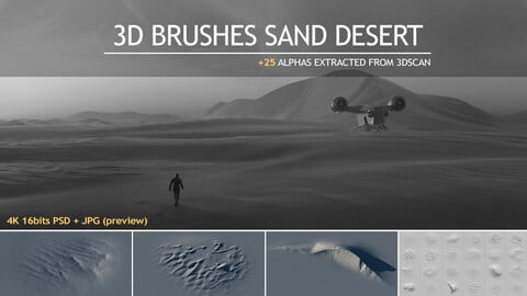 3D brushes SAND DESERT