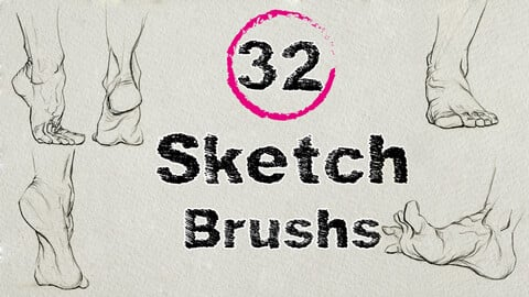 Sketch Brushs Pack - 32 pcs