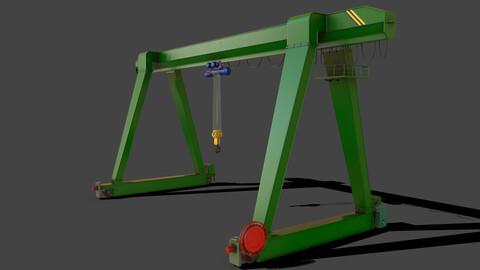 PBR Single Girder Gantry Crane V1 - GREEN
