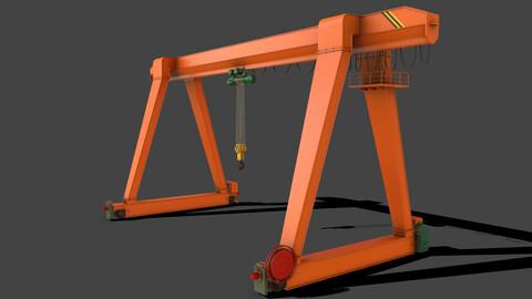 PBR Single Girder Gantry Crane V1 - ORANGE