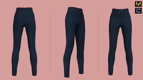 3d jeans pants- Marvelous Designer & CLO3d projects + OBJ