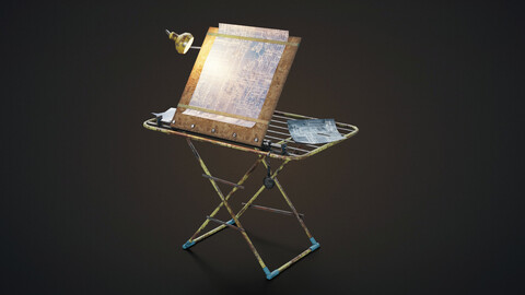 Hand made research table