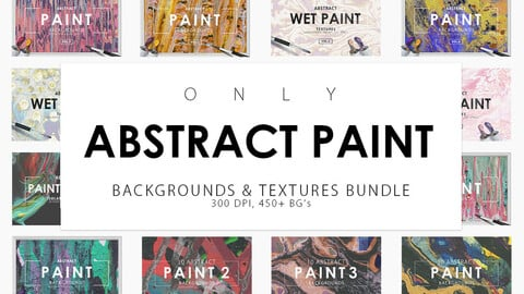 450 Abstract Paint Backgrounds Bundle