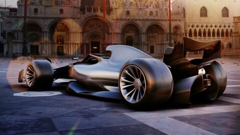 F1 2022 Concept Car 3d Model
