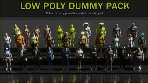 30x Low Poly Character Pack
