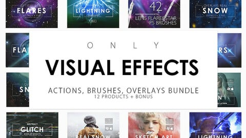 Visual Effects Bundle - Brushes, Actions, Overlays