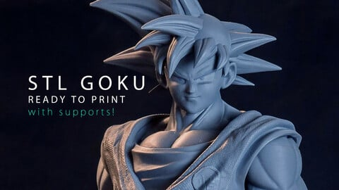 READY to PRINT - GOKU - supported STL