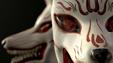 Japanese Kitsune (Fox) Mask
