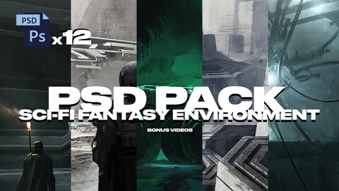 PSD PACK VOL1 SCI-FI FANTASY ENVIRONMENT