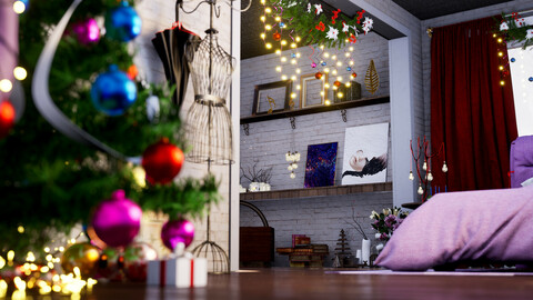 Christmas Room - UE4 Scene