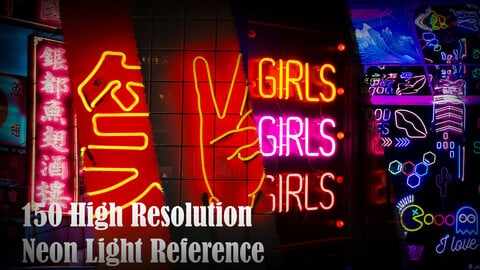 150 High Resolution Neon Light Reference