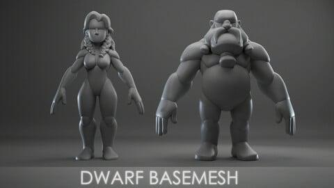 Dwarf basemesh ( male / female )