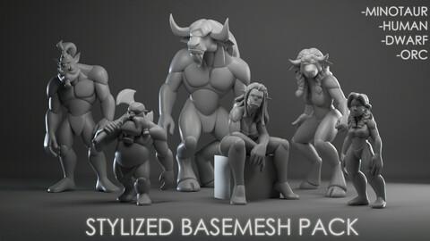 Stylized basemesh PACK
