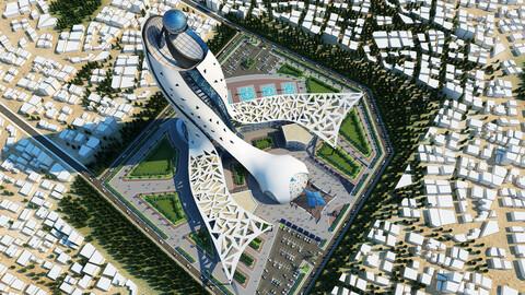 Organic-Parametric Skyscraper - Project 01