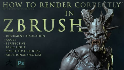 How to render correctly in ZBRUSH [RUS\ENG]