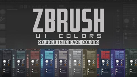ZBrush UI Colors: User Interface Colors