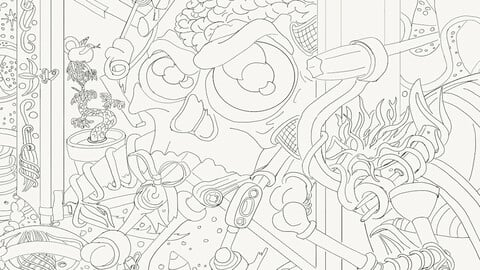 complete failure coloring page