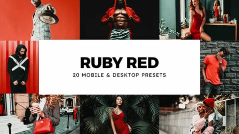 20 Ruby Red LUTs and Lightroom Presets