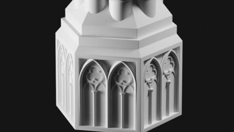 Gothic column base