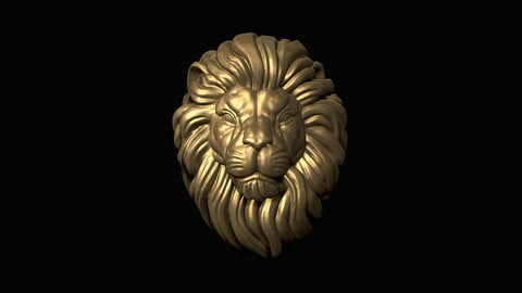 Lion Head 3D print model