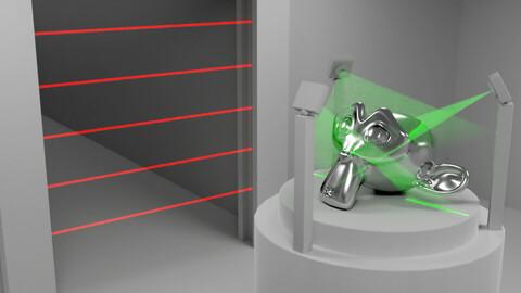 Laser lights for Blender Cycles