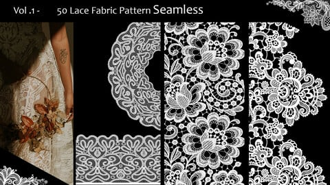 Vol.1    -      50  Lace Fabric Pattern Seamless