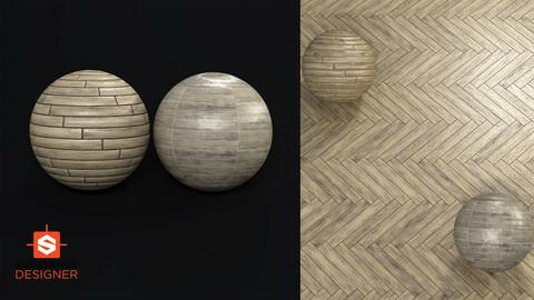Wood Floor and Porcelain Tile