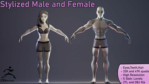 Stylized Basemeshes: Man and Woman