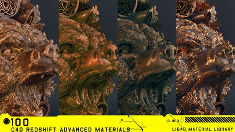 100 C4D Redshift Advanced Materials