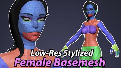 Low-Res Stylized Female Basemesh